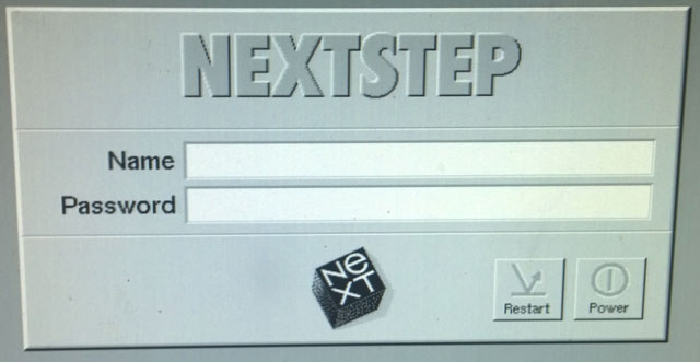 NeXTstation Turbo - NeXTstep Login Prompt