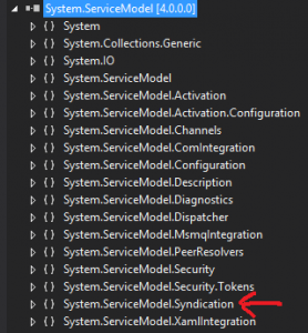 System.ServiceModel opened in Visual Studio 2012's Object Browser