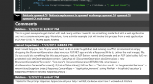 Comments Listing in MVC4 Site